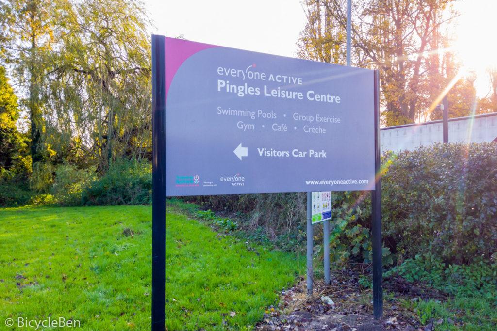 Pingles Car Park Sign