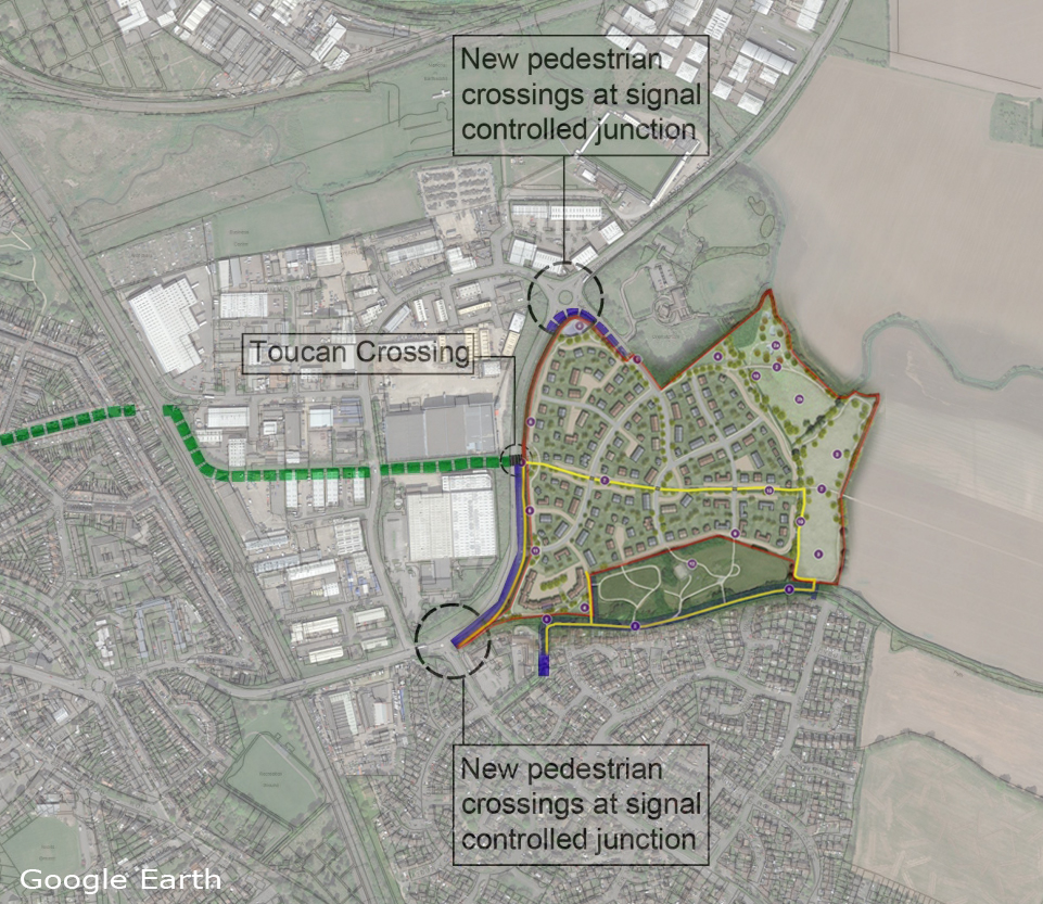 Eastboro Way Housing Development Boundary and Active Travel Proposal