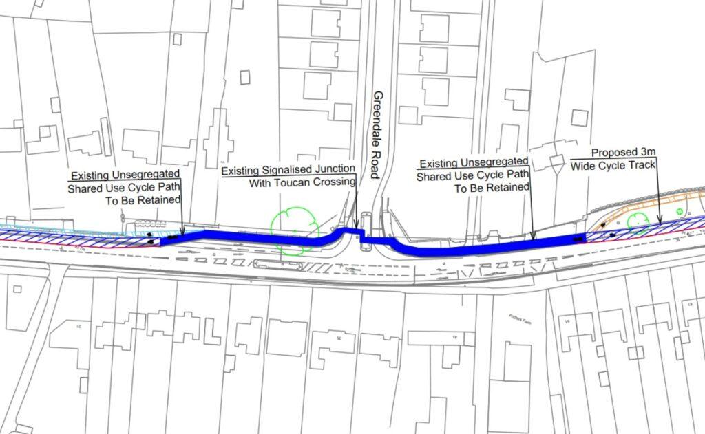 Greendale Road Junction - Scheme Plan