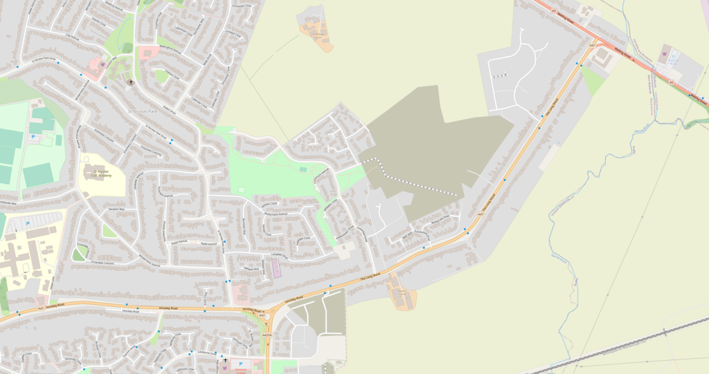 A47 Long Shoot - Feb 2021 - OpenStreetMap