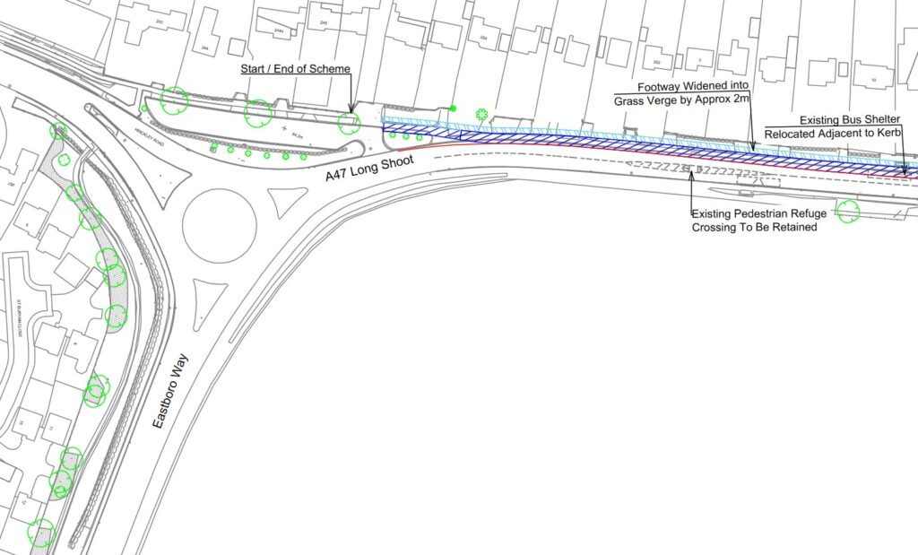 Longshoot Cycleway Plan - WCC Feb 2021 (Eastboro Way Roundabout)