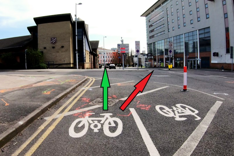 Upper Well St, Coventry (South Bound) Annotated
